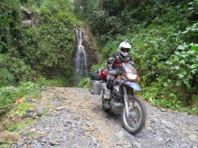 have to keep your eyes open for waterfalls, or you might ride right past them