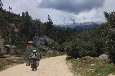 On the road into the Cordillera Blanca