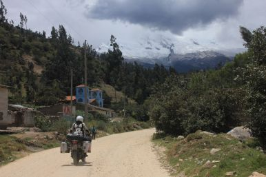 On the road into the Cordillera Blanca