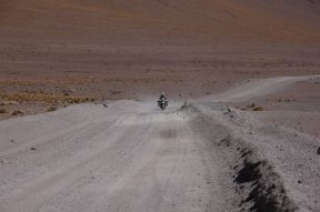 Christy learned to ride on all kind of mean road conditions here.