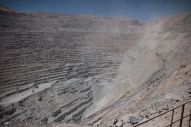 The impressive mine itself. 1000m deep.