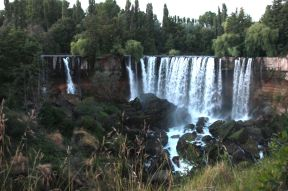 From our hotel room we saw the Salto de Laja.