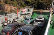The first ferry is a short one. It spills us out to the road to Hornopiren.