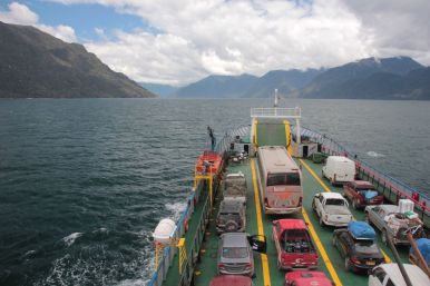 On the ferry to the Carretera Austral