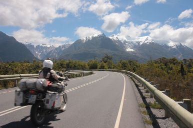 The road out of Chaiten is a nicely paved road with a great scenery.