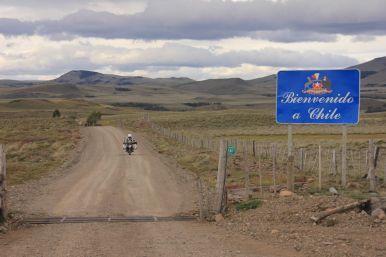 Entering Chile again...