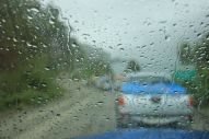 Another real nice thing about travelling in a car: no standing in the pouring rain for 2 hours