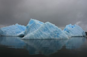 The icebergs are beautiful.