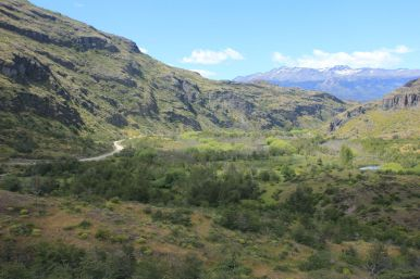 The Carretera Austral is winding through the mountains.