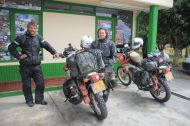 We met these two guys: dutch travellers on Honda 250s.