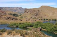 The Rio Limay has cut a fantastic valley into the mountains here.