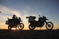 We rode till dark...
