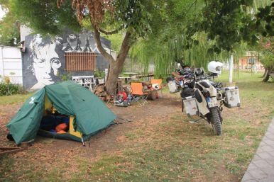 Peaceful campsite in Jorges garden