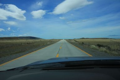 The roads here are really straight... and the land is flat