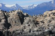 There are many little islands on the Beagle Channel.