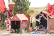 Along the roads there are always these little temples, where people donate their best (cokes, booze, cigarettes) in change for a safe travel.
