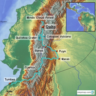 Our Route in Ecuador