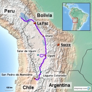 Our Route in Bolivia