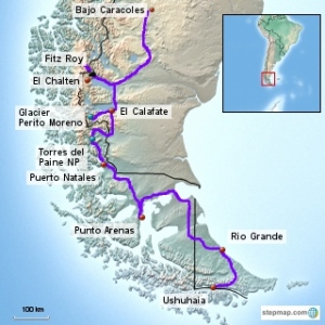 Our Route in Patagonia