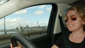 Christy is taking us out of Auckland - Juhuu