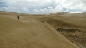 the dunes are really high there