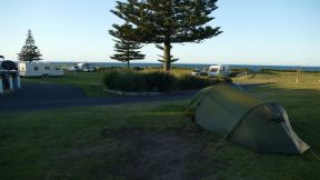 Our campsite at the beach...