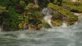the hot lake steams