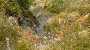 little streams with hot water