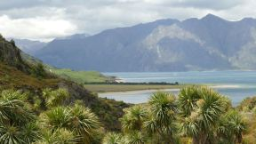 Just around the corner: Lake Hawea