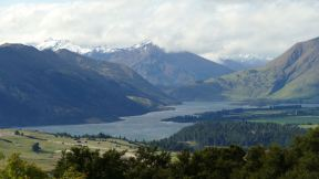 We knew the weather was about to get real bad, so an evening walk on Mt Iron in Wanaka offered this nice view.