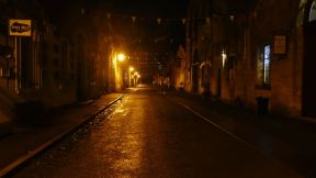 The empty streets of Oamaru at night. It is a nice place...